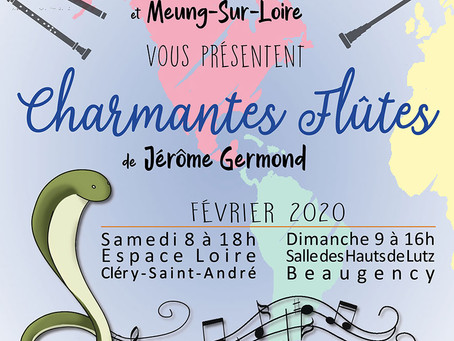 ►Concert : Charmantes Flûtes - Samedi 8 février - 18h - Espace Loire