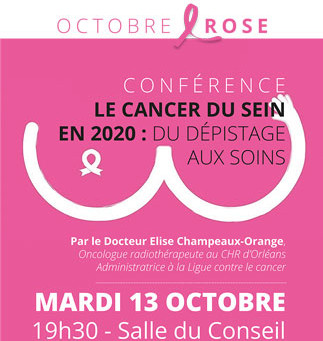Octobre rose :  Rencontres & Conférence