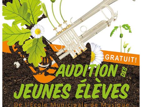 ►Audition des Jeunes Élèves - Jeudi 7 mars - 19h - Salle des Bergerêts