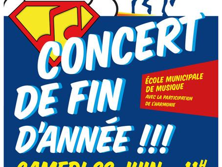 ►EMM - Concert de fin d'année! 22 juin - 11h - Cour de l'école de musique