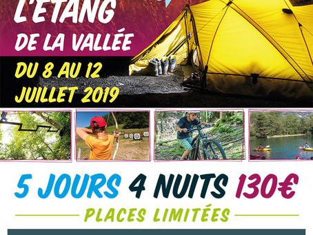 ►PASS'JEUNE - Mini séjour à l'Étang de la Vallée! du 8 au 12 juillet 2019
