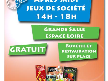 ►Après-midi Jeux de société! - Dimanche 27 janvier - 14h à 18h - Salle Espace Loire