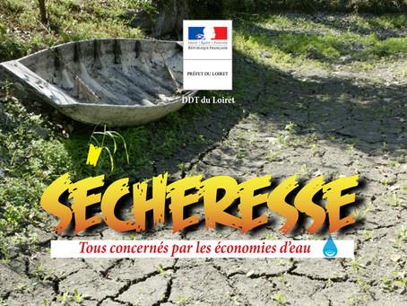 ►Sécheresse et restrictions des usages de l'eau dans le Loiret