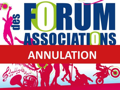 ANNULATION - Forum des associations