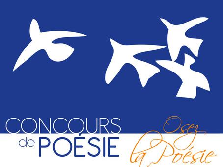 Concours de Poésie - rendez vos poèmes jusqu'au 27 février !