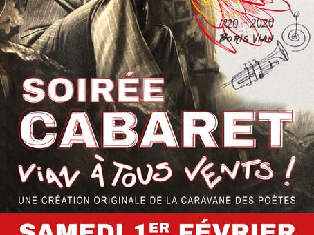 ►Soirée Cabaret - Vian à tous vents ! - Samedi 1er février - 20h30 - Espace Loire