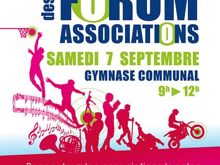 ► 10e Forum des Associations - Samedi 7 septembre - 9h > 12h - Gymnase Communal