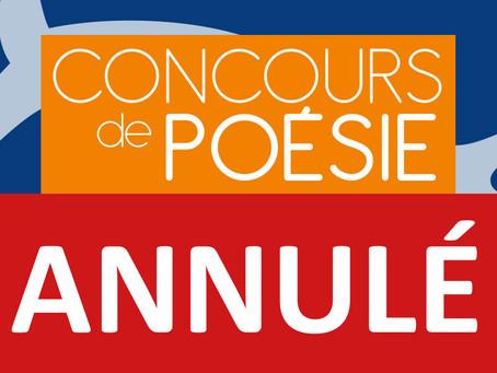 ►ANNULÉ - Remise des prix du Concours de Poésie - Ven. 13 mars - 20h - Salle polyvalente de Mareau-a