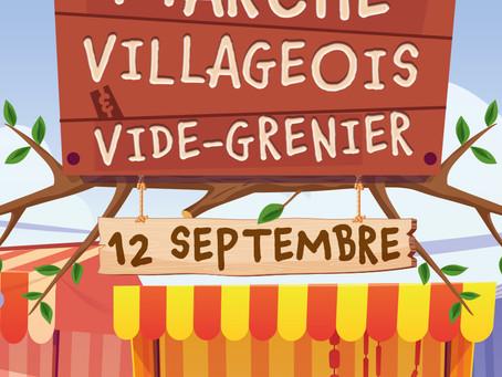 Marché villageois & Vide grenier ! Dimanche 12 septembre 2021 - Clos Noah - 9h