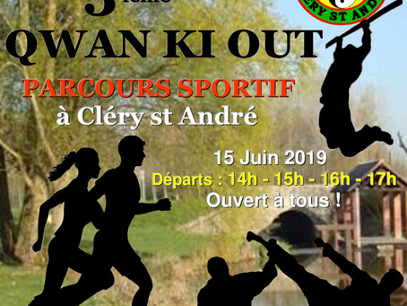 ►Qwan Ki Out : Parcours sportif - 15 juin 2019 - Base de loisirs