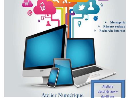 ►Aide à Domicile : Ateliers numériques    & Initiation informatique
