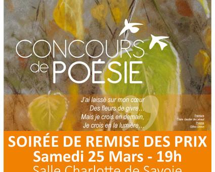 ►Concours de Poésie - Soirée de remise des prix - Sam. 25 mars