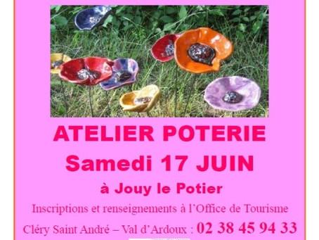 ► Atelier Poterie - Sam. 17 juin