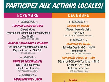 ►Téléthon : Jusqu'au 7 décembre, participez aux actions locales!