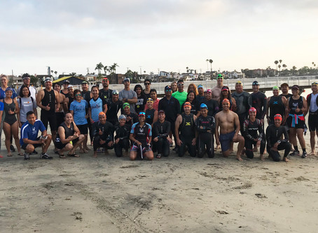 Triathlon race simulation event in Long Beach + potluck report