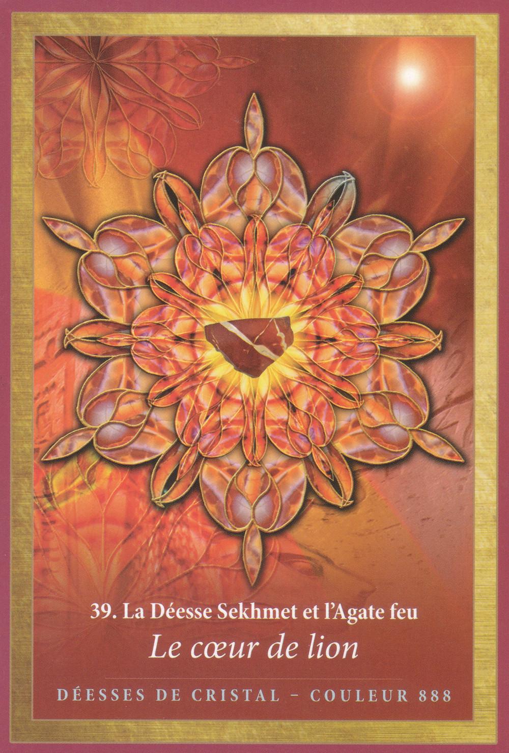 Carte de L'Energie des Anges et des Cristaux d'Alana Fairchild - 39 - Le coeur de lion - Energies du 20 au 26 janvier 2020 : Dénouements et guérisons émotionnelles, ça bouge !! (Nouvelle Lune du 24 janvier)