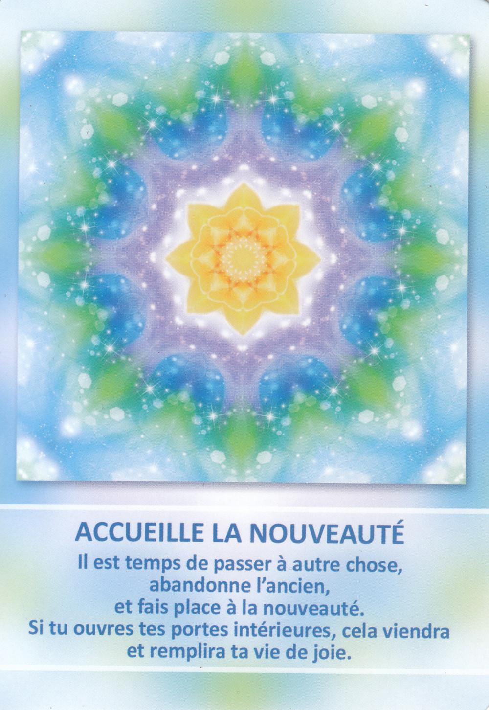 Carte de L'Oracle des Mandalas d'Énergie de Gaby Shayana Hoffmann - Energies du weekend du 16-17-18 Avril 2021 : Nouveau départ !