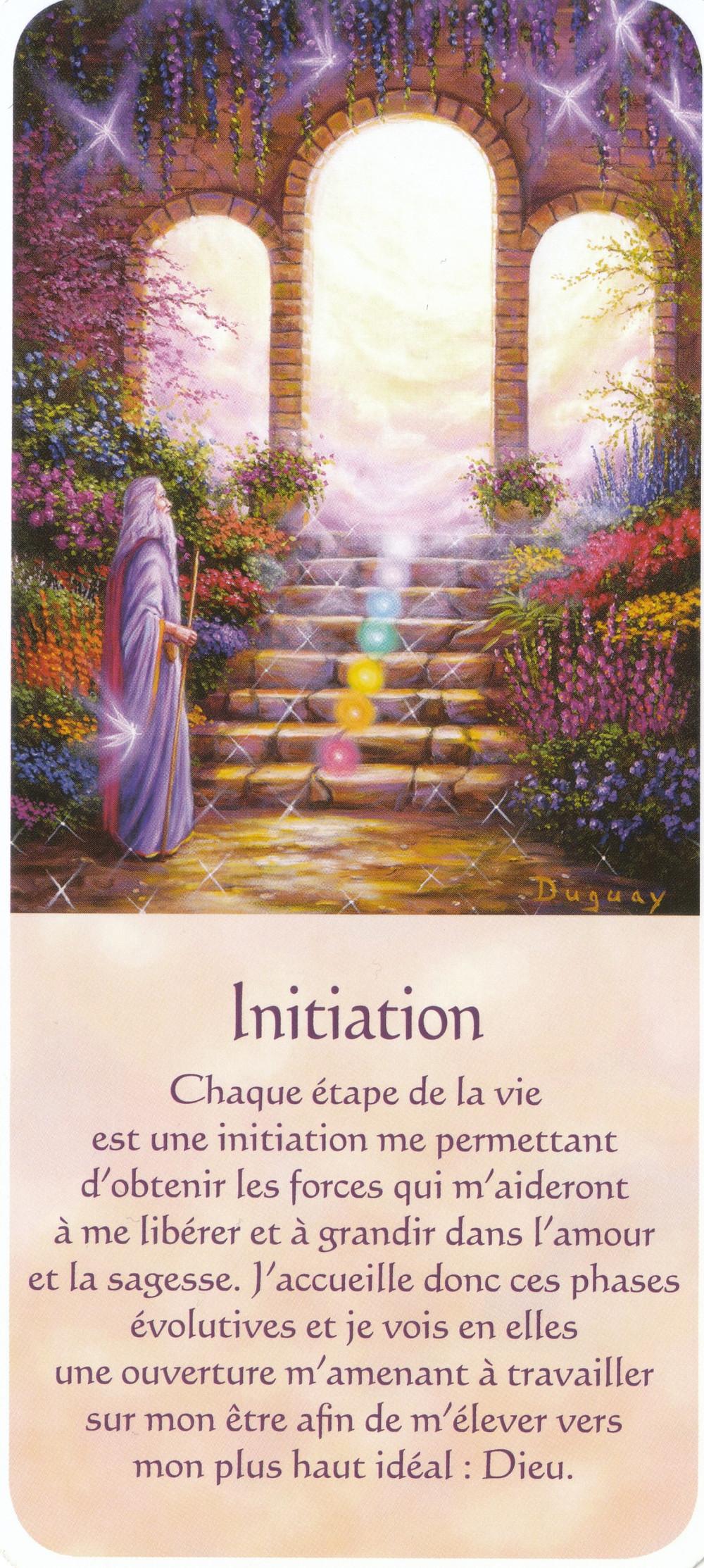 Carte de Messages d'Eveil, de Mario Duguay - Initiation - Conseils pré- Portail énergétique 22-4 (4-4) : C'est le moment de persévérer dans la Voie du Coeur !