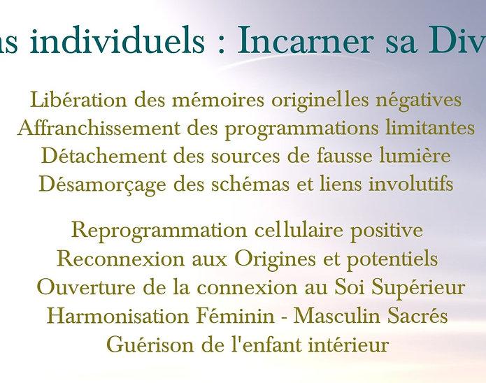 Session soins individuels complets adultes  : Incarner sa Divinité 18-20 juin