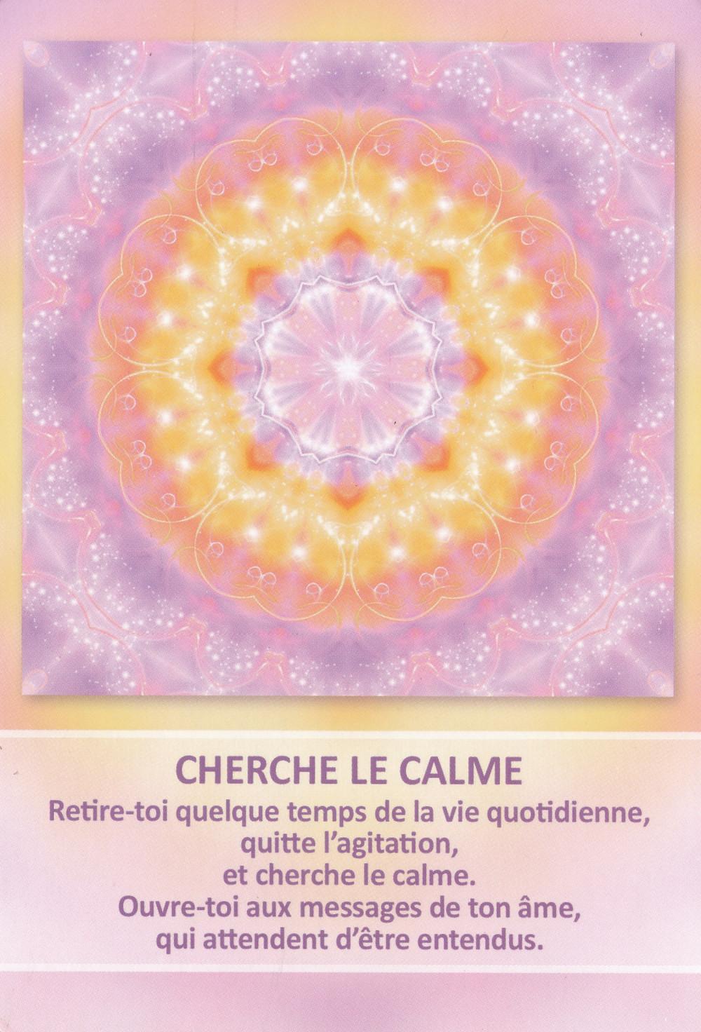 Carte de L'Oracle des Mandalas d'Énergie de Gaby Shayana Hoffmann - Cherche le calme - Conseils énergétiques du 14 janvier 2020 : Douceur et prendre Soin !