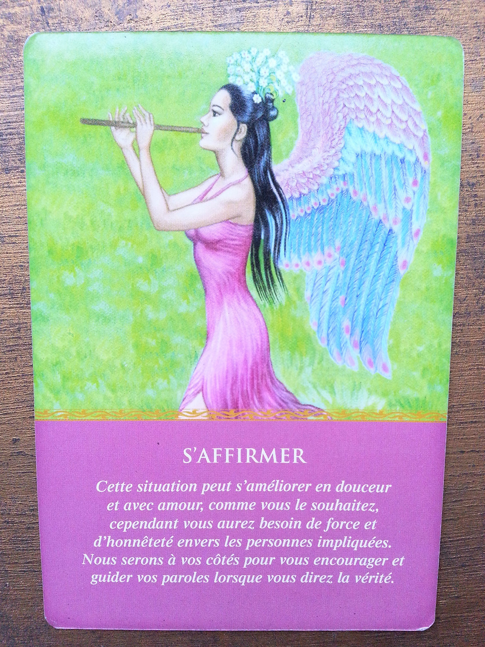 Carte tirée de l'Oracle des Anges de Doreen Virtue - S'affirmer