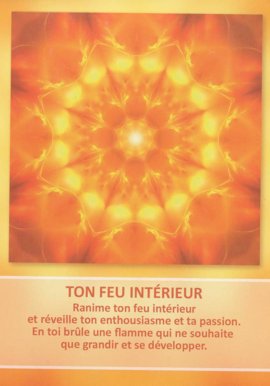 Carte de L'Oracle des Mandalas d'Énergie de Gaby Shayana Hoffmann : Ton Feu intérieur - Prémices des énergies de décembre 2019...