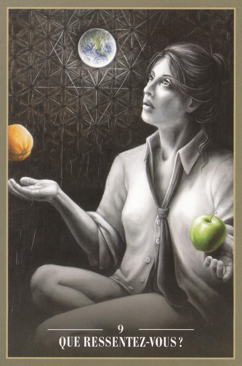 Carte de L'Oracle des Rebelles Sacrés d'Alana Fairchild - Que ressentez-vous ? Energies actuelles (Portail 11-11, Nouvelle Lune du 15) : On purifie, on fait du tri !