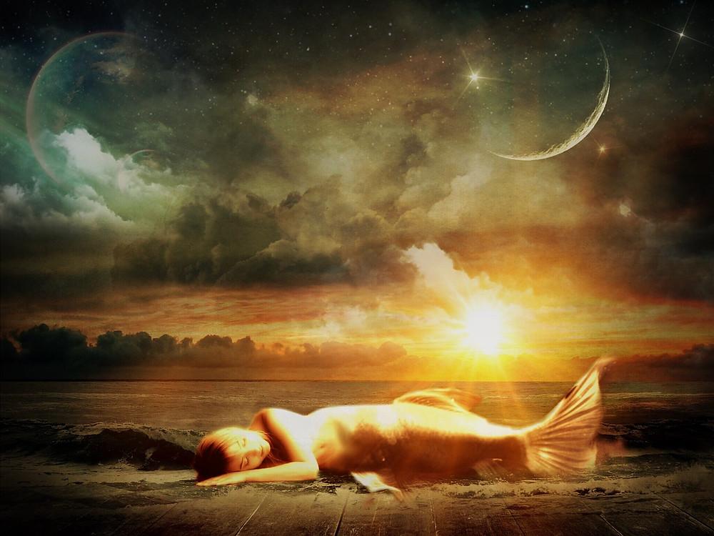 Mes soins énergétiques racontés : Soin Ciel et Terre : Soin Ciel et Terre : Vie de Sirène et retour d'âme sœur...