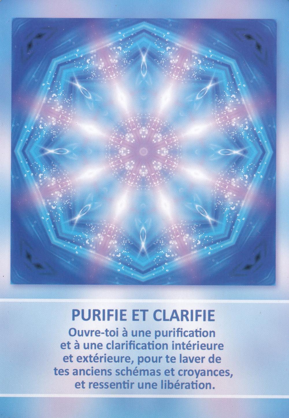 Carte tirée de l'Oracle des Mandalas d'Énergie de Gaby Shayana Hoffmann - Purifie et clarifie