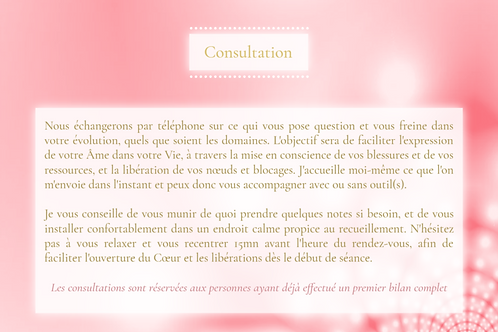 Consultation 60mn