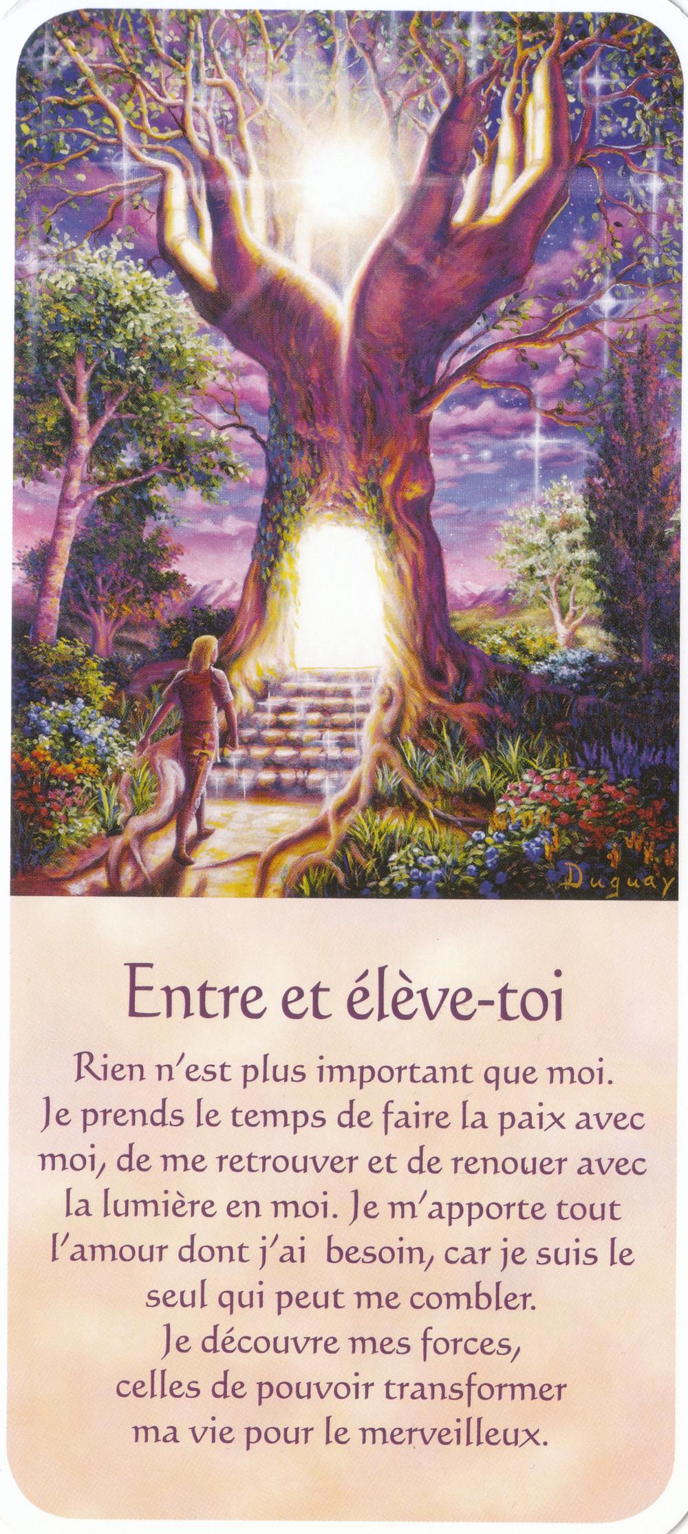 Carte tirée de Messages d'Eveil, de Mario Duguay - Entre et élève-toi