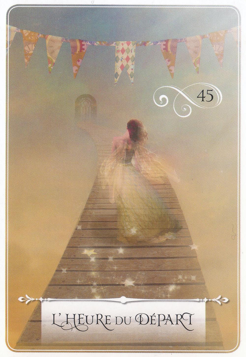 Carte de La Sagesse de l'Oracle de Colette Baron-Reid - L'heure du départ - Energies du weekend et Nouvelle Lune du 16 octobre 2020 : Révélations, Réconciliations, Régénération