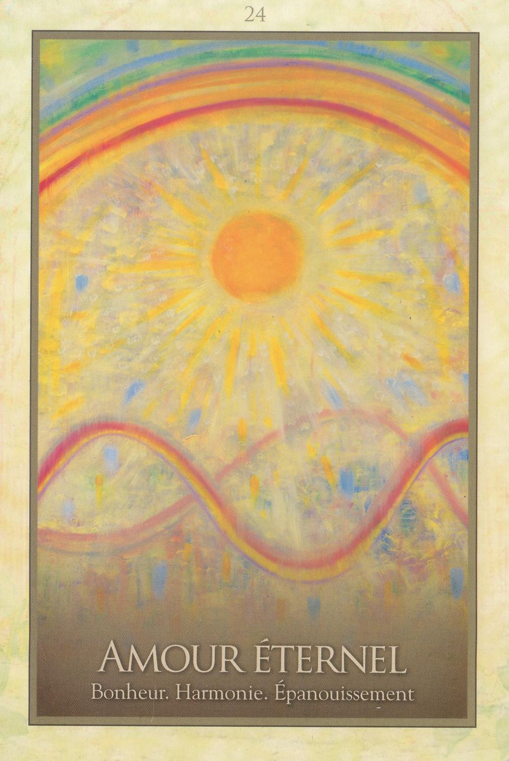 Carte de L'Oracle de Gaïa de Toni Carmine Salerno - Amour Éternel - Bonheur, Harmonie, Épanouissement. Energies du 17 au 23 Février 2020 (Portail du 22 et Nouvelle Lune) : Amour Éternel et Renaissance de l'Union Sacrée