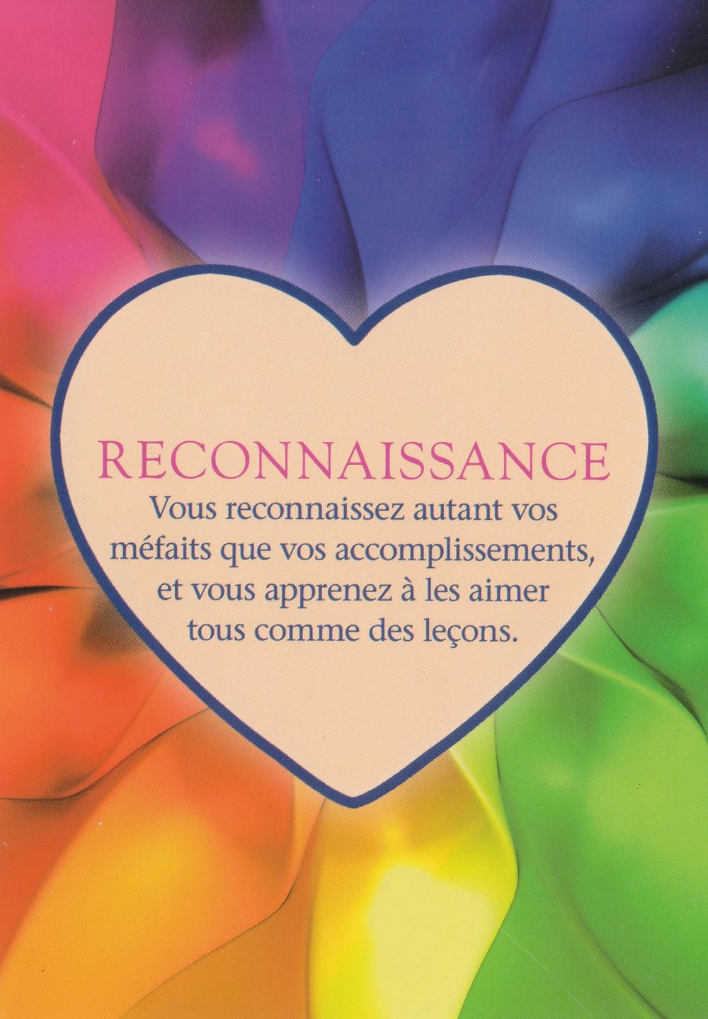 Carte tirée de L'Oracle Le Pouvoir de l'Amour de James Van Praagh Reconnaissance