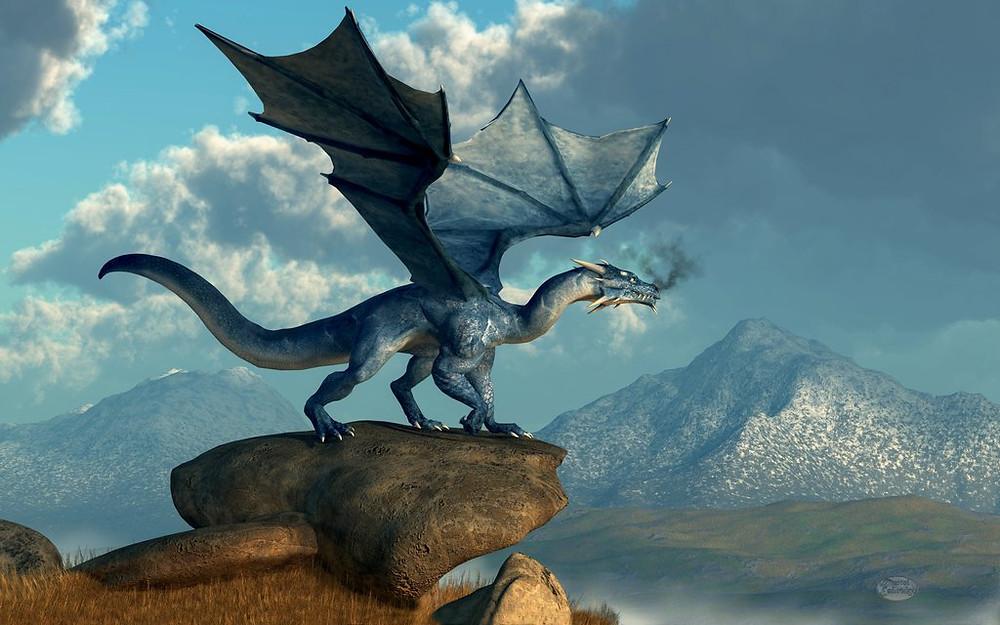 """Soin énergétique à thème """"Se délester de ses peurs"""" : Le soin de M. : La folie du Dragon bleu..."""