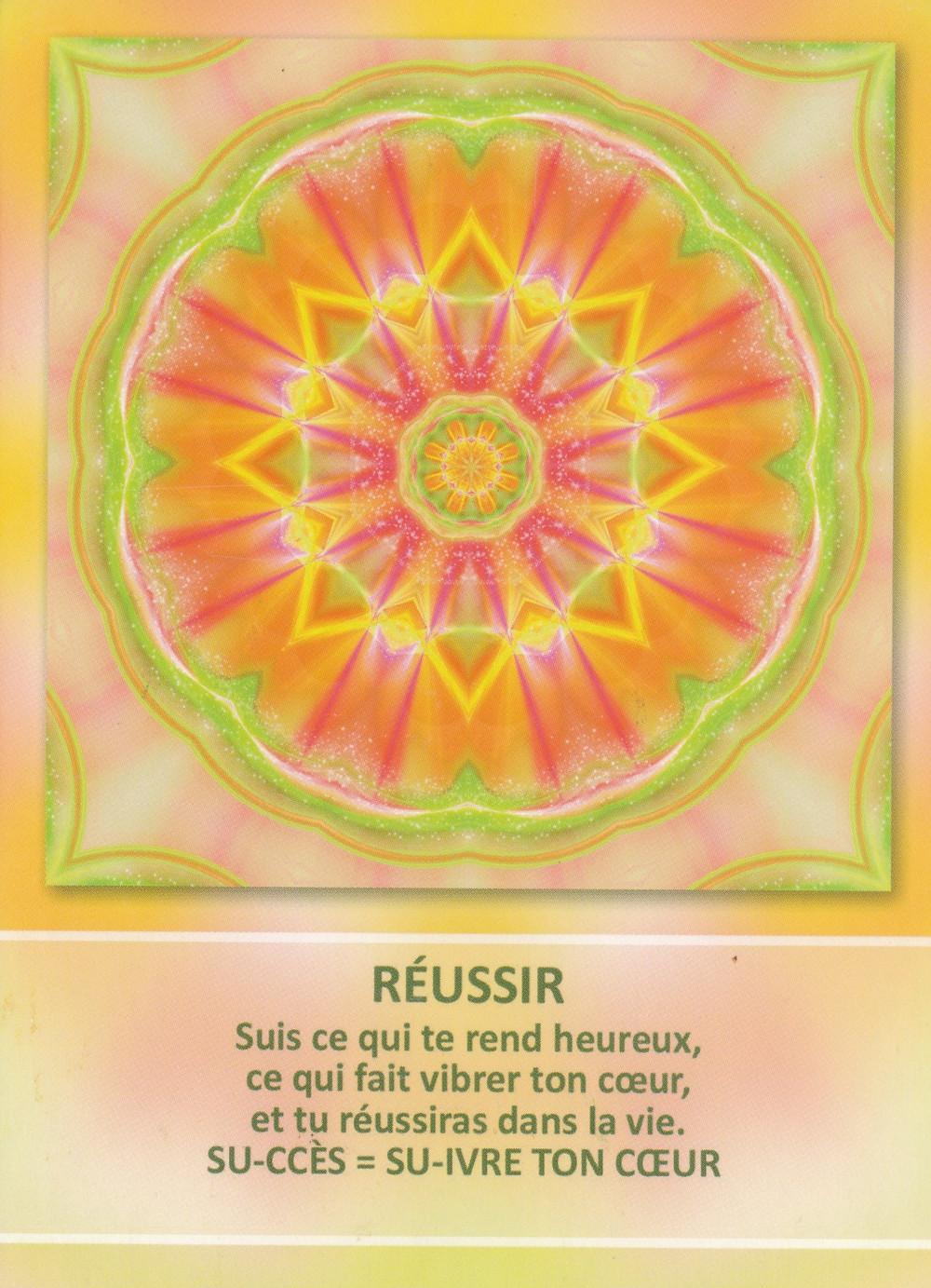 Carte de L'Oracle des Mandalas d'Énergie de Gaby Shayana Hoffmann : Réussir - Energies du weekend du 10 au 12 janvier 2020 : Il est temps de s'affranchir pour s'Unir !  (Pleine Lune Eclipse du 10 janvier)
