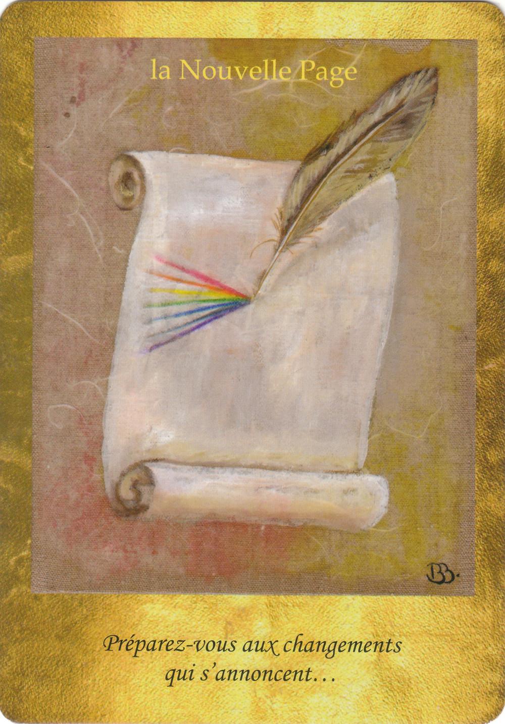 Carte tirées de l'Oracle Les Portes de l'Intuition de Vanessa Mielczareck et Brigitte Barberane Topo-Energies du Portail du 11.11.11 : La Nouvelle Page...