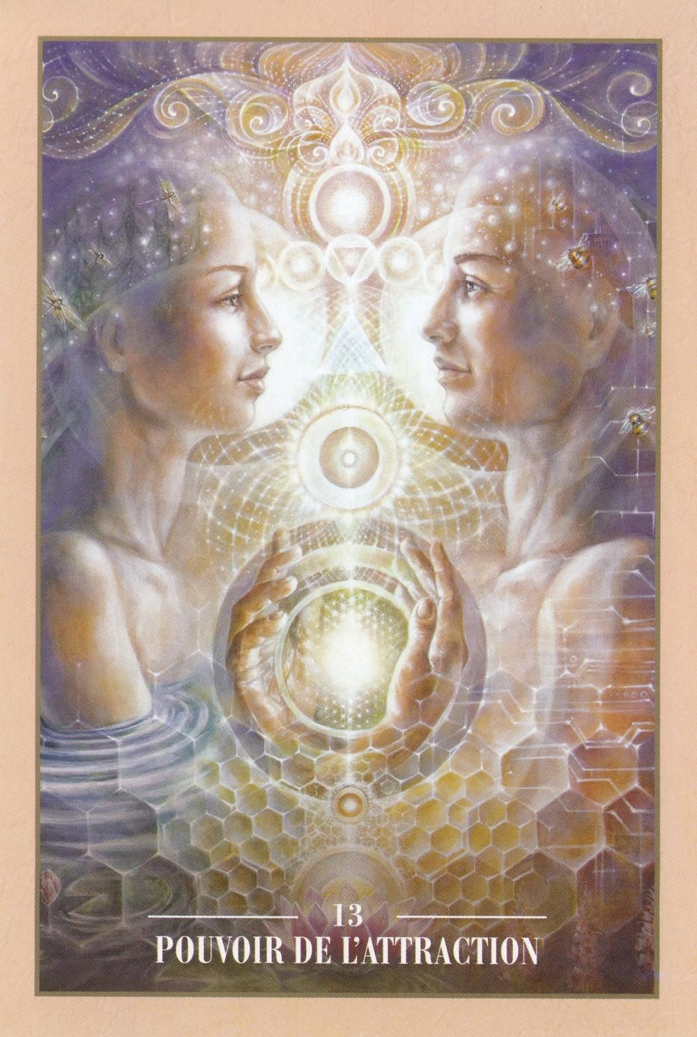 Carte de L'Oracle des Rebelles Sacrés d'Alana Fairchild - 13 - Pouvoir de l'Attraction - Energies du weekend du 12-13-14 juin 2020 : L'Abondance est un état d'Être, non une velléité...