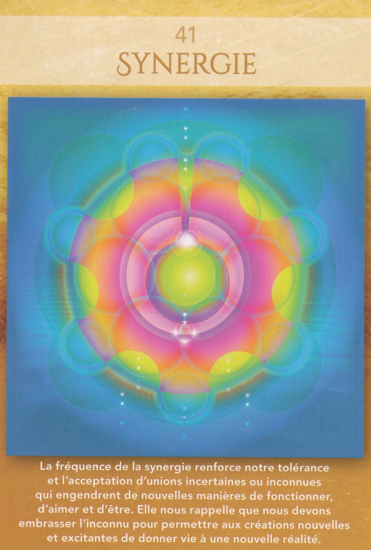 Carte de L'Oracle Géométrie Sacrée de Lon - 41 - Synergie - Energies du 17-18-19 avril 2020 : Oser se laisser porter pour s'Unifier et développer sa Créativité