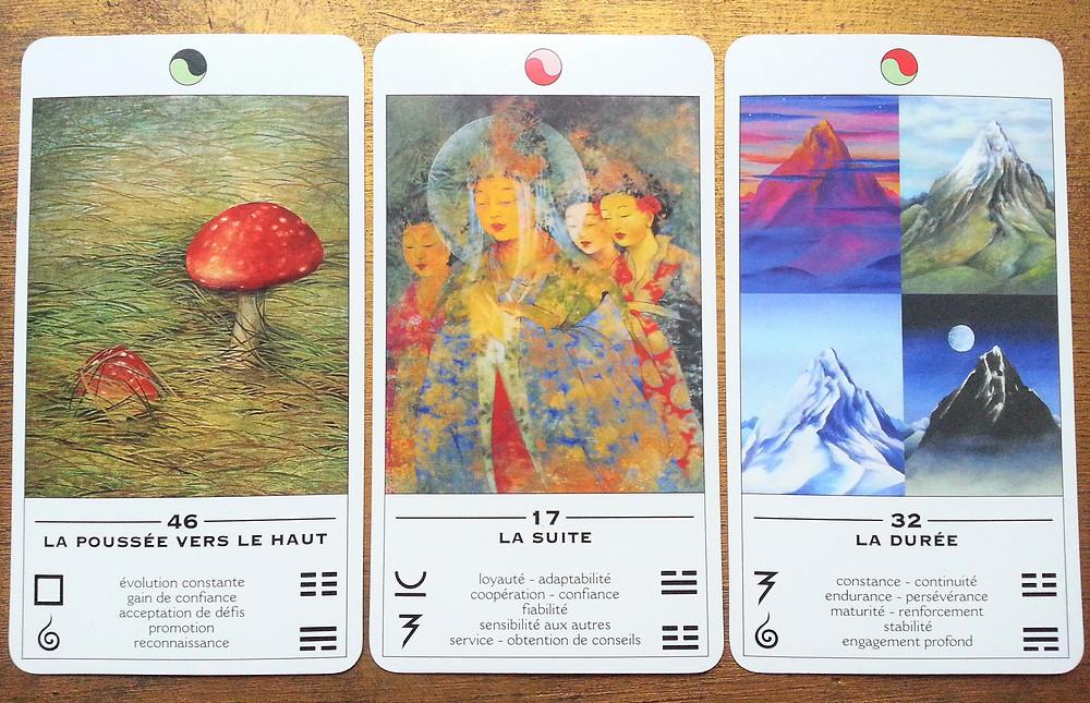 Cartes tirées de L'Oracle TAO, L'Oracle des Transformations de Ma Deva Padma - La poussée vers le haut, La suite, La durée