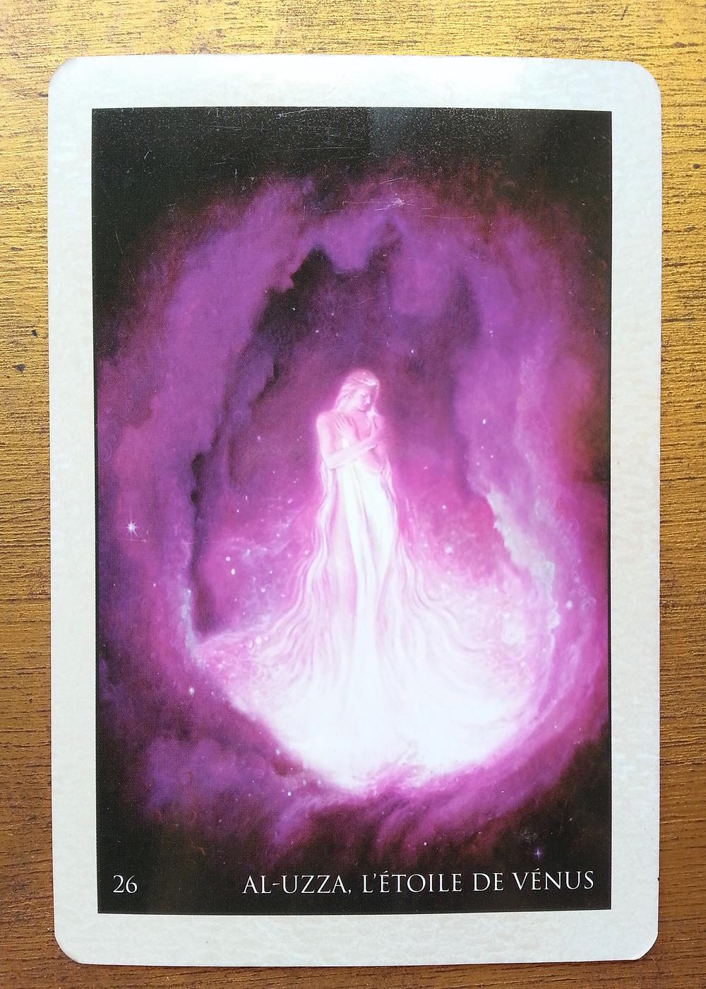 Carte tirée de l'Oracle de Roumi d'Alana Fairchild - Al-Uzza, l'étoile de Vénus