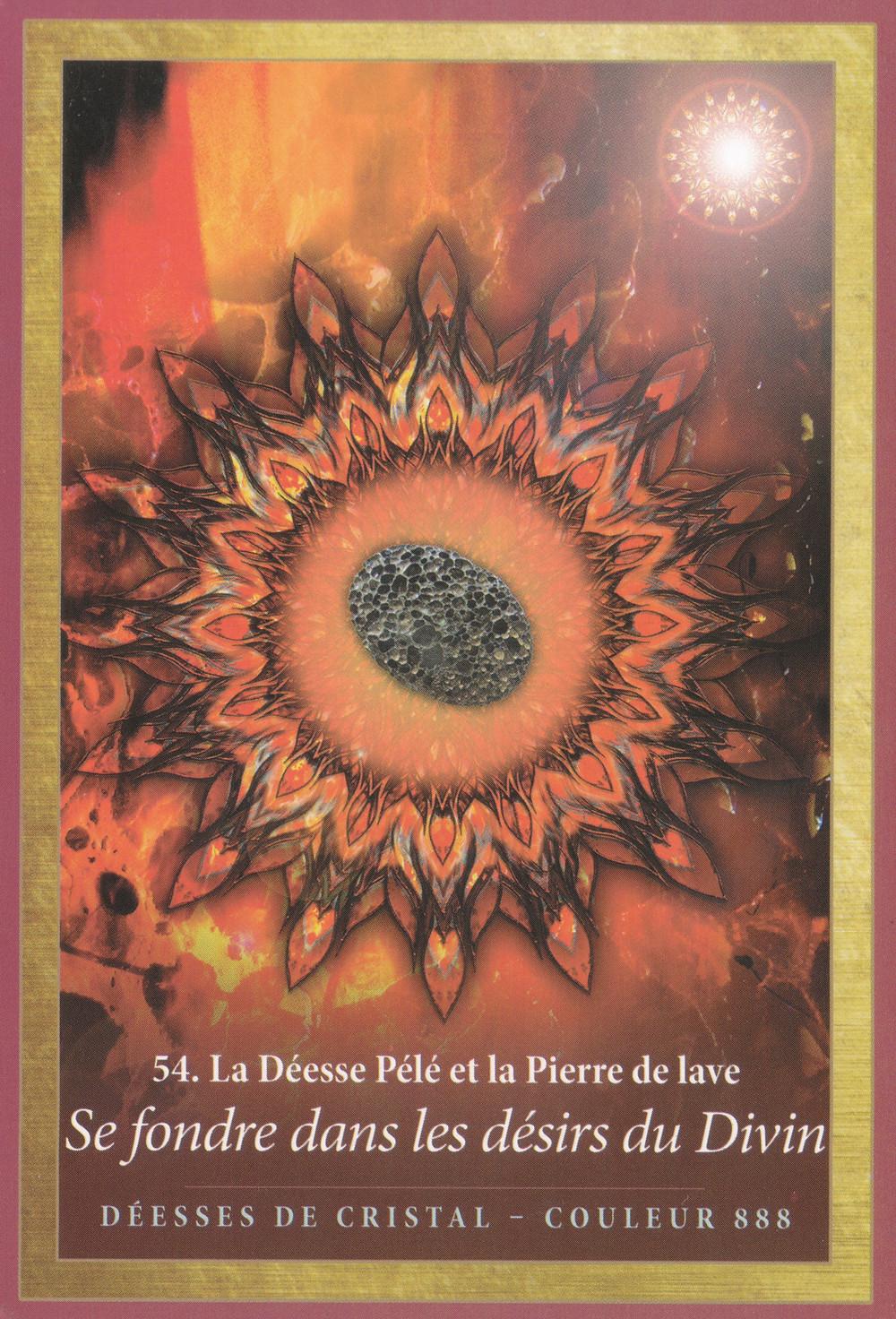 Carte de L'énergie des Anges et des Cristaux d'Alana Fairchild - Se fondre dans les désirs du Divin - Energies de Mai 2020 : Défis d'Amour et Engagement - Se Libérer de ses attachements (Portail du 5-5)