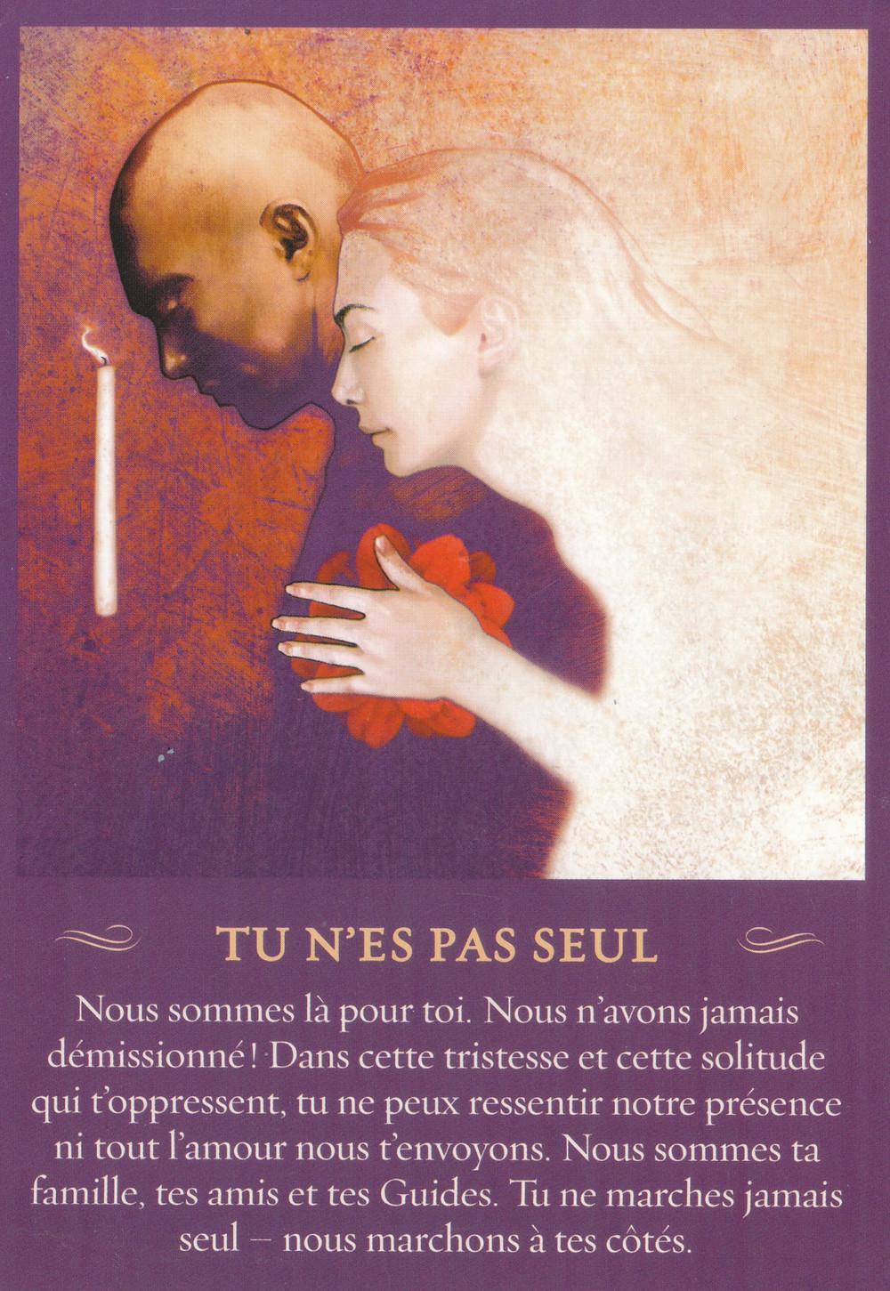 Carte de Messages de l'Esprit de John Holland - Tu n'es pas seul - Energies semaine du 3 au 9 février : Épuration de karma... on respire !
