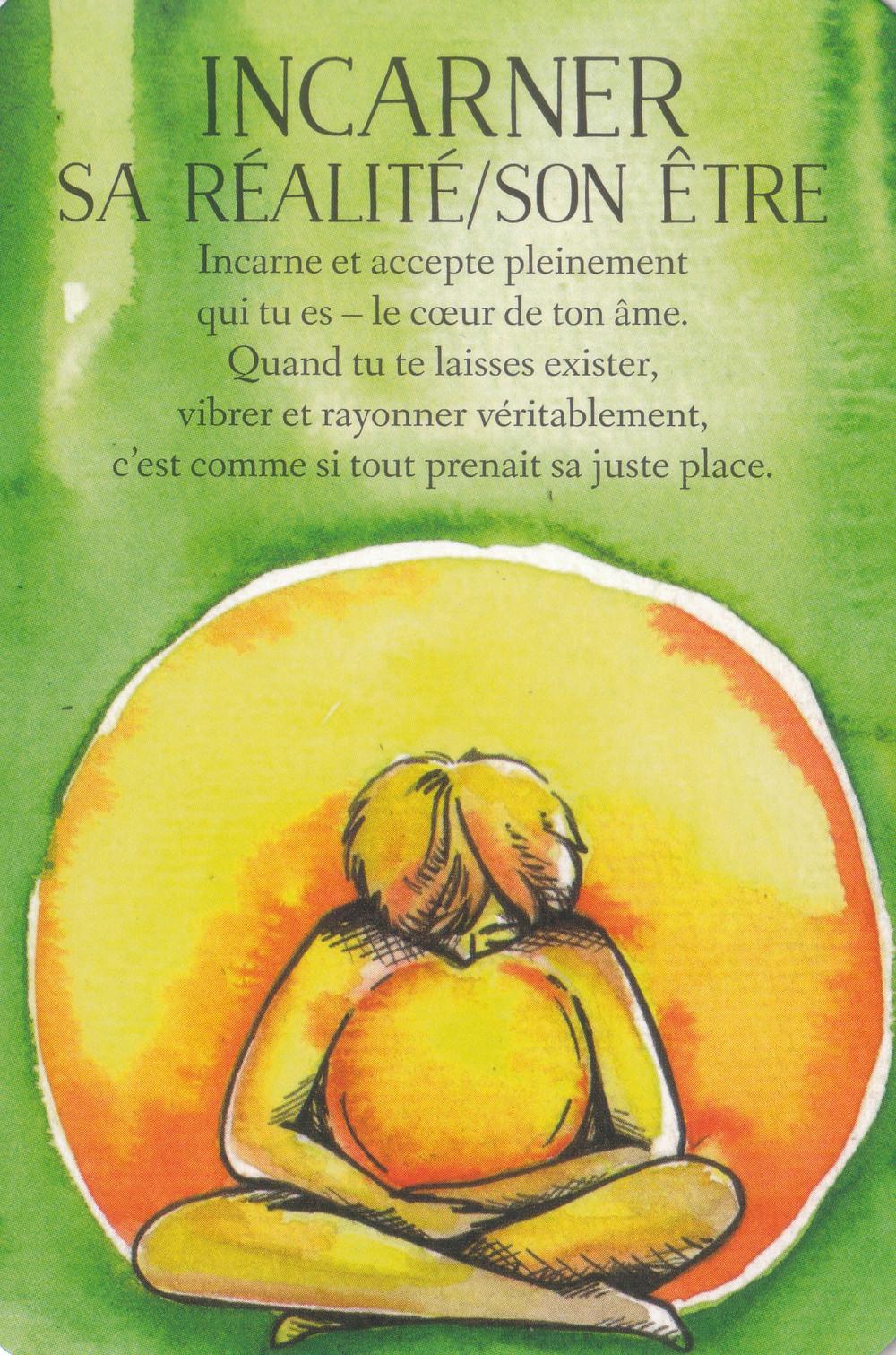 Carte de L'Oracle des messages de ton âme, de Charlotte Daynes - Incarner sa Réalité / son Etre - Conseils et réponses aux messages SOS de la semaine du 15 au 21 juin 2020 '(Nouvelle Lune - Eclipse)
