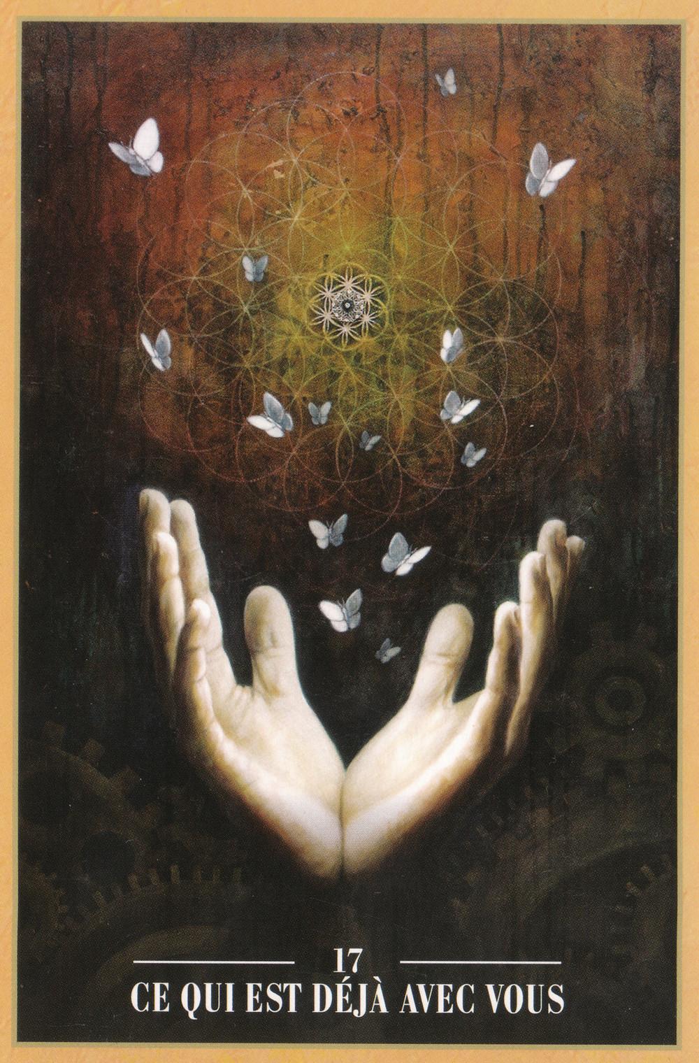 Carte de L'Oracle des Rebelles Sacrés d'Alana Fairchild - 17 - Ce qui est déjà avec vous - Energies du 6 au 12 avril 2020 : Quand l'Amour nous aide à Voir que Tout est déjà là...