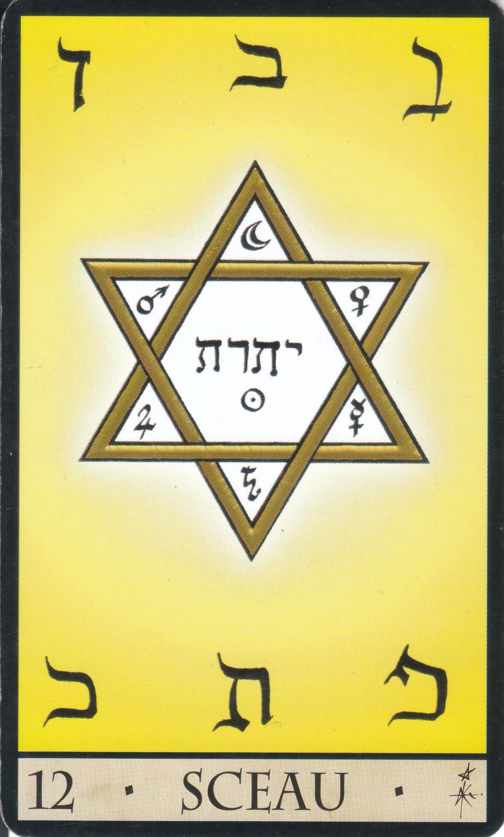 Carte tirée de L'Oracle de la Triade de Dominike Duplaa - 12 - Sceau