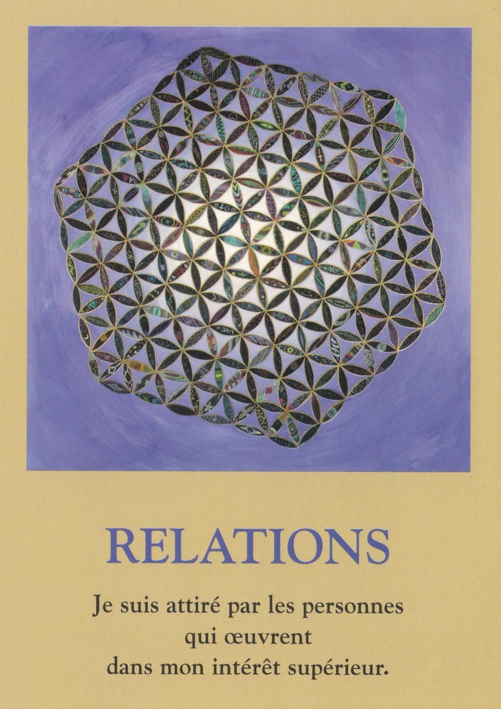 Carte de L'Oracle Le Cheminement de l'Âme, de James Van Praagh - Relations - Conseils du 22 janvier 2020 : Nourrir des relations saines...