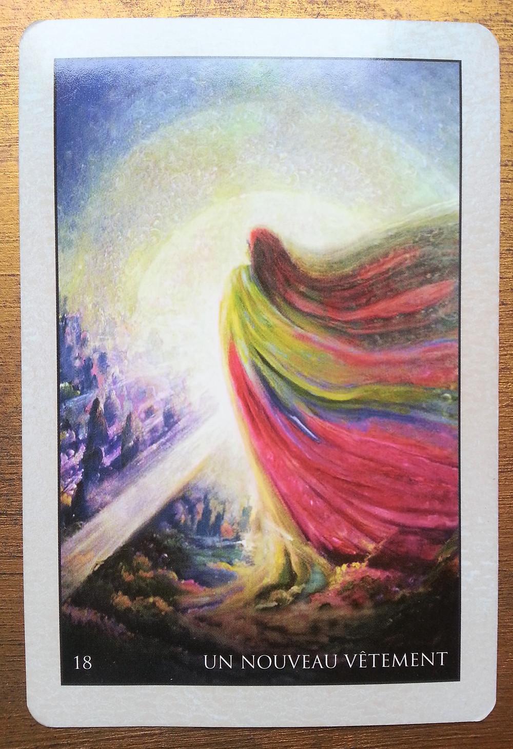 Carte tirée de l'Oracle de Roumi, d'Alana Fairchild - Un nouveau vêtement