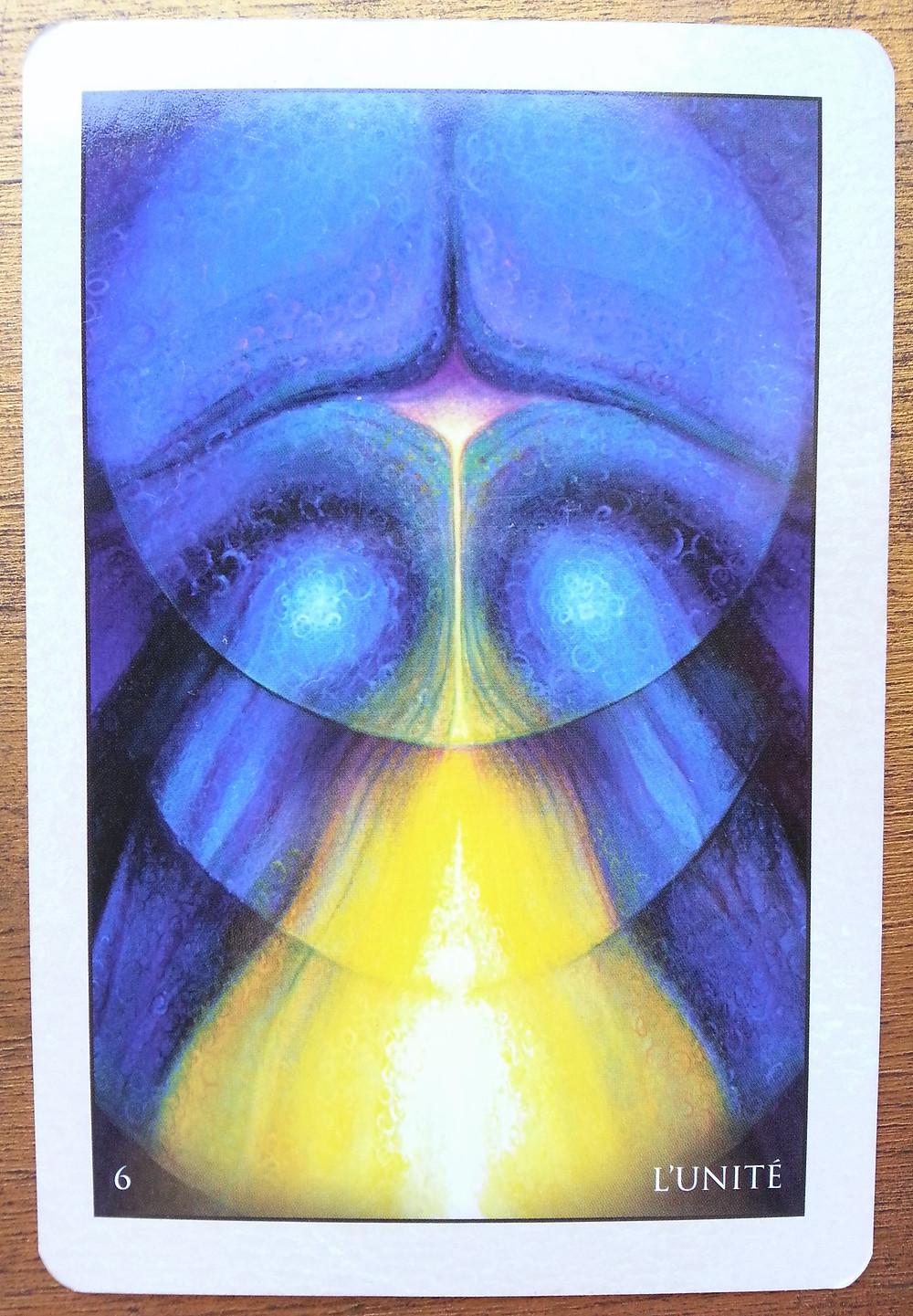 Carte tirée de l'Oracle de Roumi d'Alana Fairchild L'Unité