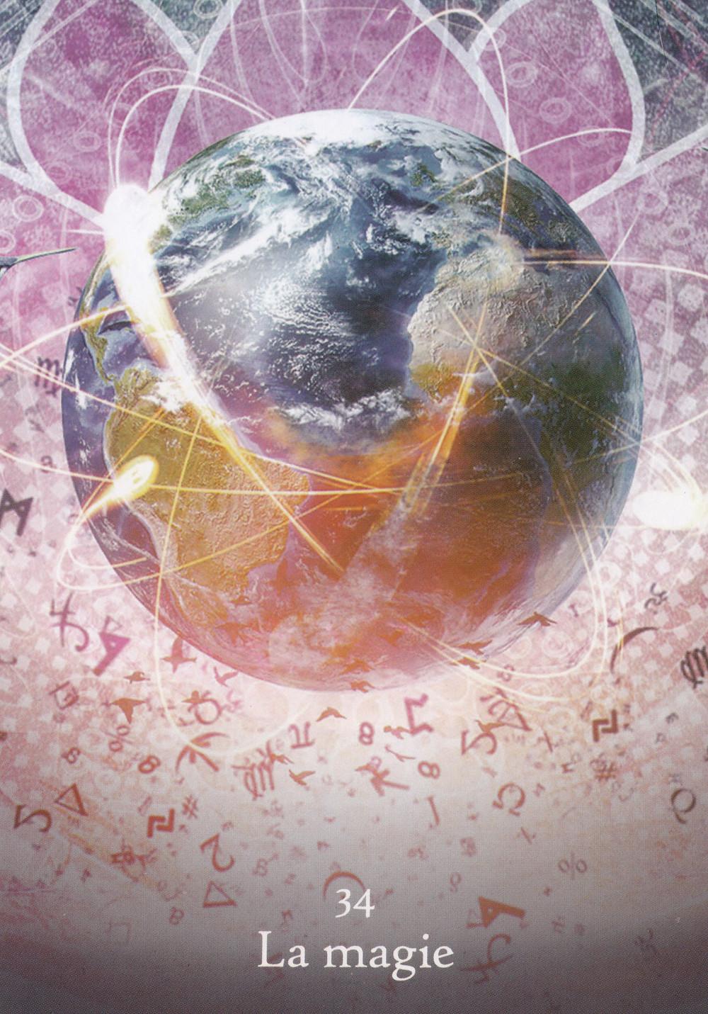 Carte de l'Oracle Les Chemins de l'Eveil, de Dylan Collin - 34 - La magie - Energies du 29 juin au 5 juillet 2020 (Pleine Lune et Eclipse) : Accueillir la Magie des énergies !